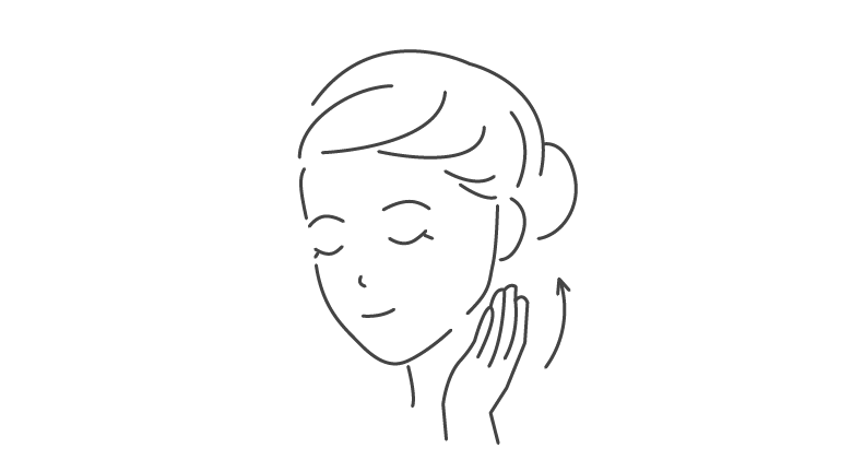 お顔全体から首元など気になる部分にやさしくなじませてください。